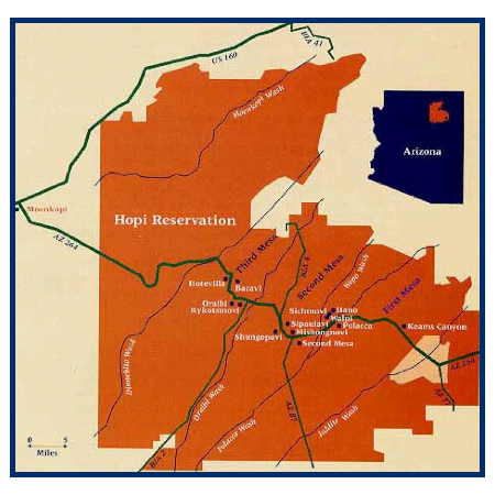 Hopi Nation Map